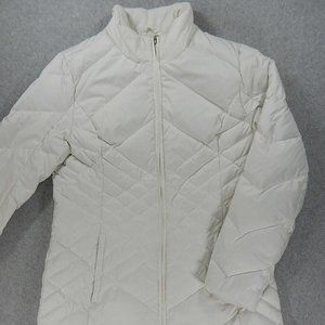 Eddie Bauer Goose Down Coat (Womens Large) White